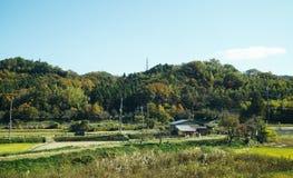Cenário rural de Tohoku, Japão fotos de stock