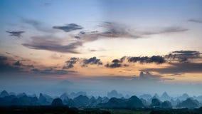 Cenário rural em Guilin imagens de stock royalty free