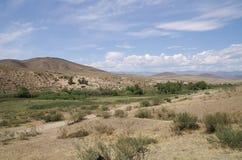 Cenário selvagem em montanhas de Tuva fotografia de stock