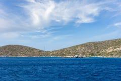 Cenário surpreendente na ilha de Leros, Grécia fotografia de stock royalty free