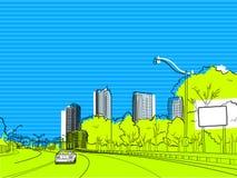 Cenário urbano Imagens de Stock Royalty Free