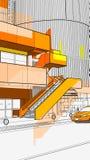 Cenário urbano Imagem de Stock Royalty Free