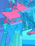 Cenário urbano Imagem de Stock