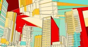 Cenário urbano Imagens de Stock