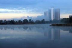Cenário urbano da manhã Imagem de Stock Royalty Free