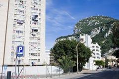 Cenário urbano da rocha de Gibraltar Imagens de Stock