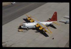 Cen-130 Hercules Transport Plane Arkivbilder