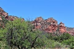 Cen?rio Maricopa County da paisagem, Sedona, o Arizona, Estados Unidos foto de stock royalty free