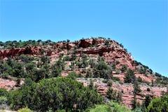 Cen?rio Maricopa County da paisagem, Sedona, o Arizona, Estados Unidos imagem de stock
