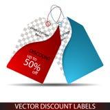 Cen sprzedaży etykietki ilustracja wektor
