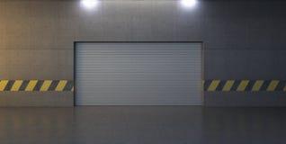 Cena abstrata com porta da garagem Fotos de Stock