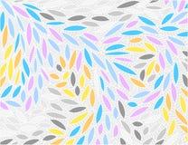 Cena abstrata da garatuja das cores da folha ilustração stock