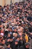 Cena aglomerada da rua Fotos de Stock