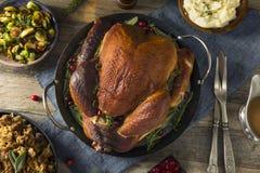 Cena ahumada hecha en casa orgánica de Turquía para la acción de gracias Imagen de archivo libre de regalías
