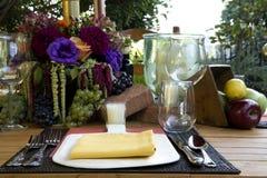 Cena al aire libre foto de archivo