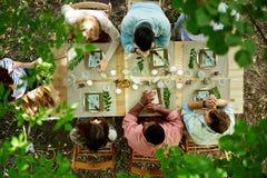 Cena al aire libre Fotografía de archivo libre de regalías