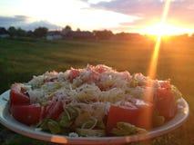 Cena al tramonto Immagine Stock Libera da Diritti