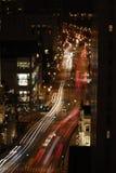 Cena aérea da rua Fotos de Stock