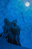 Cena artística da noite de Iwo Jima Fotografia de Stock