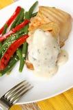 Cena asada a la parilla del pollo Fotografía de archivo