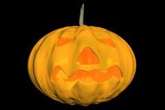 A cena assustador 3D do cemitério de Halloween rende Fotos de Stock