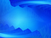 Cena azul brilhante ilustração stock