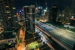 Cena bonita da noite da cidade de Sydney foto de stock