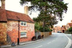 Cena britânica velha do estilo da casa Imagem de Stock