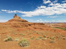 Cena cénico do deserto. Fotografia de Stock