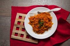 Cena caliente de la col y de la patata fotos de archivo