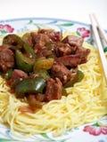 Cena china de la haba negra de la carne de vaca Fotografía de archivo
