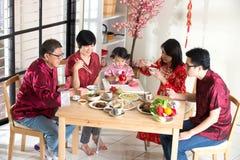 Cena china de la reunión del Año Nuevo foto de archivo libre de regalías