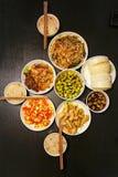 Cena china para la familia tres Imagen de archivo libre de regalías