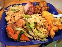 Cena cinese di combinazione Immagine Stock Libera da Diritti