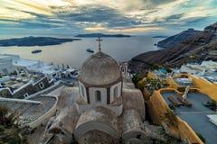 Cena clássica de Santorini, Grécia Fotos de Stock