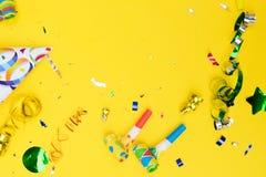 Cena colorida brilhante do carnaval ou do partido Fotografia de Stock Royalty Free