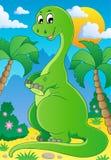 Cena com dinossauro 2 ilustração royalty free