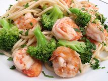 Cena con poca grasa del camarón foto de archivo