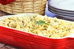 Cena cremosa del atún y de las pastas Foto de archivo