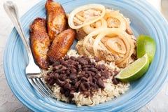 Cena cubana deliciosa Imagen de archivo libre de regalías