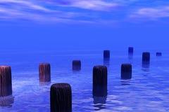 Cena da água do mar Fotografia de Stock