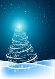 Cena da árvore de Natal ilustração stock