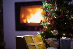 Cena da época de férias do Natal fotografia de stock