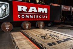 Cena da apresentação de RAM na feira automóvel 2019 de Chicago imagens de stock royalty free