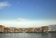 Cena da barra do beira-rio - Crete Imagens de Stock Royalty Free