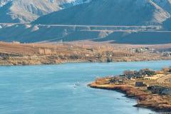 Cena da beleza do Rio Columbia, vista da estrada em Washington Imagens de Stock Royalty Free