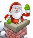 Cena da chaminé do Natal de Santa ilustração stock