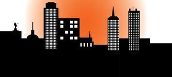 Cena da cidade ilustração royalty free