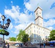 Cena da cidade de Lviv (Ucrânia). MAIO 10, 2012 Imagens de Stock
