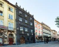 Cena da cidade de Lviv (Ucrânia). MAIO 10, 2012 Imagem de Stock